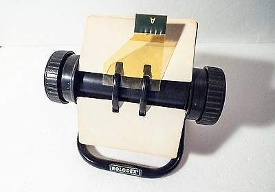 Vintage Rolodex Rotary Index File Model 5024X with 4 x 2.25 inch Cards