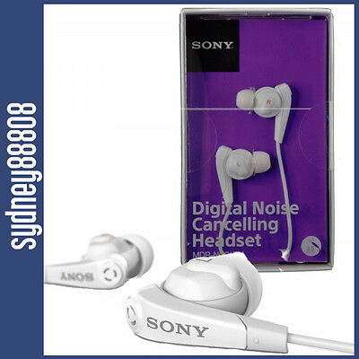 New Sony Digital Noise Cancelling Headset Mdr-Nc31Em For Sony Devices White