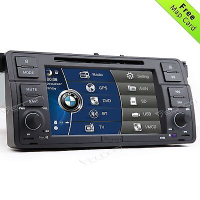 For BMW 3 Series E46 316 318 320 Car Stereo DVD Player GPS Sat Nav OEM-Style W
