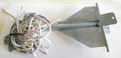 Boat anchor with chain and rope 51cm long 10LBS
