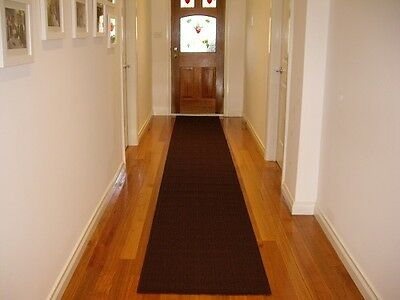 Hall Runner Rug Modern Designer Brown 6 Metres Long F65