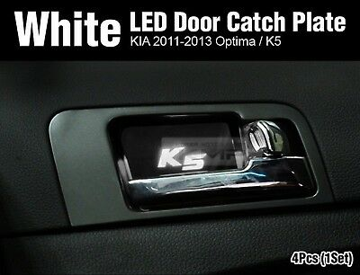 Promotion Blue Led Inner Door Catch Handle Plate 4p For Hyundai 13 16 Elantra Gt Cad