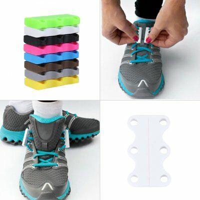 New Novelty Sneaker Closure No-Tie Magnetic Casual Shoelace Shoe Buckles~Hy