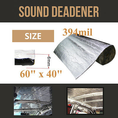 "60""x40"" 394mil Firewall Sound Deadener Car Heat Shield Insulation Deadening Mat"