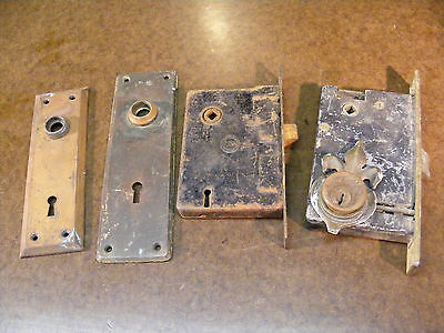 Antique Penn National Full Mortise Door Locks Vintage Architectural Salvage
