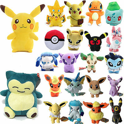 Pokemon Go Collectible Pikachu Eevee Squirtle Gengar Plush Stuffed Doll Kids Toy