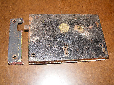 Antique No. 60 Improved Hand Forged Door Lock Vintage Architectural Salvage Pa