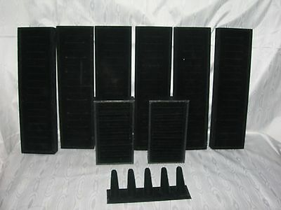 Mixed Set of 9~Black Velvet Jewelry Trays organizer~RING Tree Display Holder