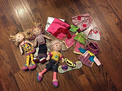 3 Groovy Girls  & Assorted Clothing Lot