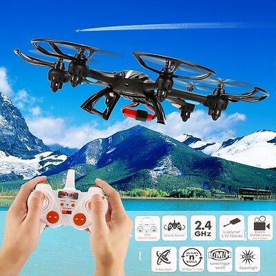 Black MJX X800 6Axis Gyro 2.4G 4 Channels RC Quadcopter Drone 3D Roll C5S
