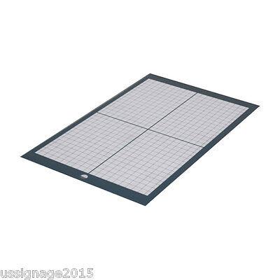 2PCS-A4 Non Slip Vinyl Cutter Plotter Cutting Mat with Craft Sticky Printed Grid