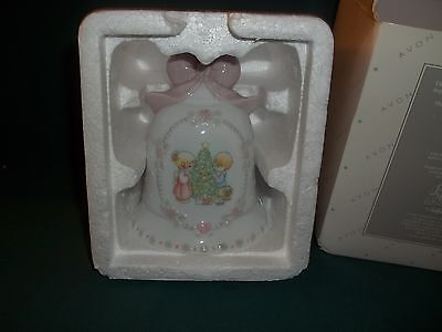 1997 Precious Moments Porcelain Christmas Bell – Boy & Girl Decorating Tree