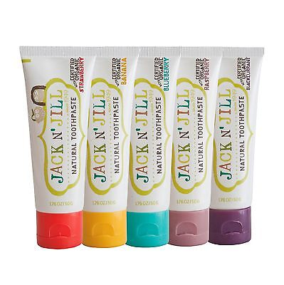 6x Jack N Jill Organic Kids Toothpaste 50g - Choose Your Flavours!