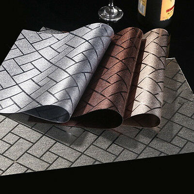 Plaid Placemats PVC Insulation Kitchen Dining Table Mats Pad Coasters Tableware