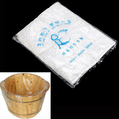 90x Disposable Foot Tub Liners Bath Basin Bags for Foot Pedicure Spa 55x65cm