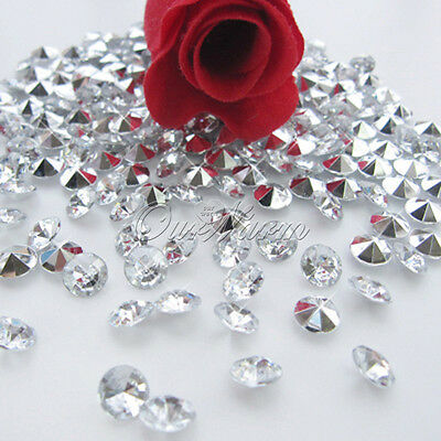 1000PCS 10mm Big Size Crystal Diamond Confetti Wedding Party Decor Table Scatter