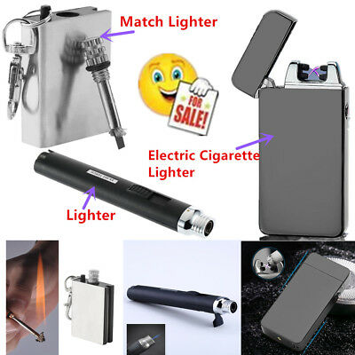 Hot USB Electric DualArc Flameless Torch Rechargeable Windproof Lighter GK