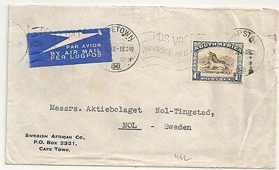 Cover South Africa Capetown To Sweden. L462