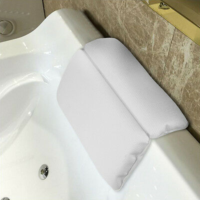 Spa Bath Pillow Waterproof Non-Slip Sponge Cushion Memory Foam Headrest Shoulder