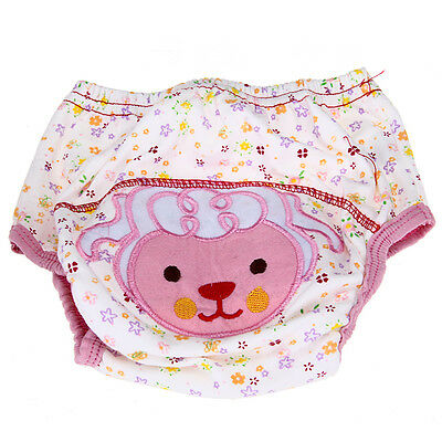 Cotton Reusable Baby Infant Diaper Pant Waterproof Cover Training Sheep Pattern