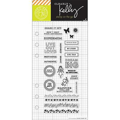 "Hero Arts Clearly Kelly Girl Talk Planner 2.5""x6"" Clear Stamp Set CL934"