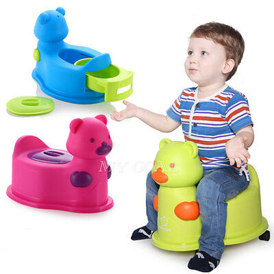 Kid Child  Baby Toddler Toilet Training Potty Seat Chair Urinal Trainer Toy Blue