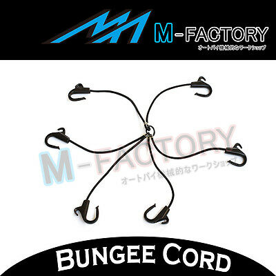 6-Way Black Bungee Cord POM Hooks Best Reliable Type Fit ATV/Touring 206RSE