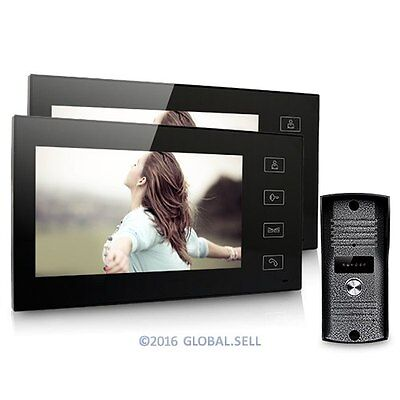 "7"" Color LCD Touch Key Wired Video Door Phone Doorbell Intercom System Ir Camera"