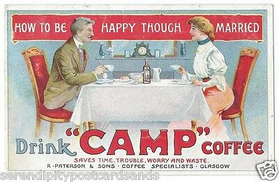 Advertising Poster Camp Coffee How to be happy through married PPC Used 1907