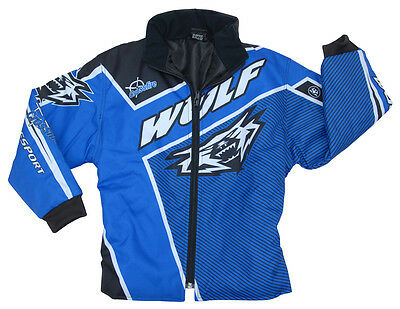 "Wulfsport cub blue crossfire ride jacket size 28"" motocross motorbike MX leisure"