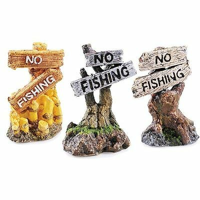 No Fishing Sign Aquarium Ornament Fish Tank Decoration (1 Only)