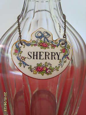 Collier-Plaquette Pour Carafe Sherry Decanter Label  Staffordshire England
