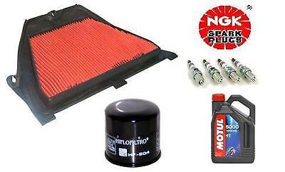 Suzuki GSXR600 K4-K5 Service Kit NGK Plugs, Air & Oil Filters, Motul SemiSyn Oil
