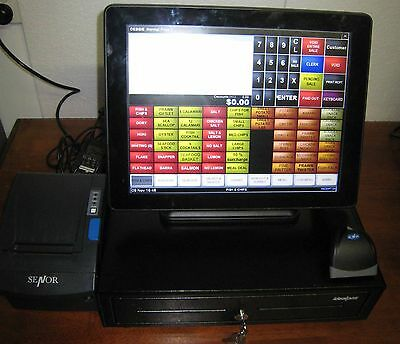 "Idealpos i15 POS Bundle 15"" Touch Screen, Cash Drawer Windows Embedded 8"