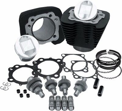 S&s Hooligan 1200 To 1250 Big Bore Cylinder Piston Cams Top End Kit Black