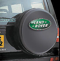 LAND ROVER DEFENDER 4x4 spare wheel cover BLACK WITH LOGO