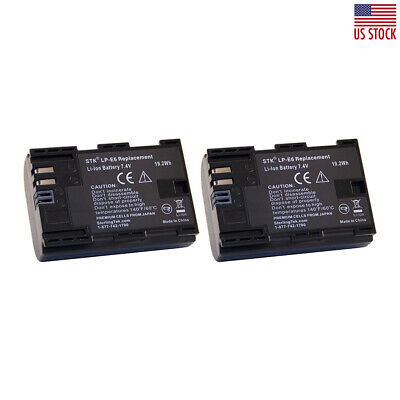 Battery for  Canon LP-E6 (2-Pack) Replacement Battery