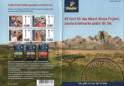 Tchibo Portocards 55 + 45 Cent ** – Privat Kaffee Mount Kenya Project Afrika