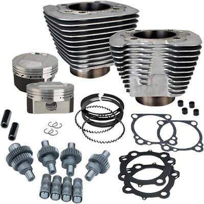 S&s Hooligan 1200 To 1250 Big Bore Cylinder Piston Cams Top End Kit Silver