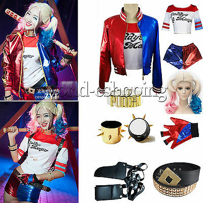 Suicide Squad Harley Quinn Daddy's Lil Monster Costume Coat Jacket Holster Lot
