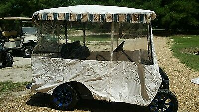 """New golf cart 3 sided weather enclosure universal fits 80"""" extended tops only"""