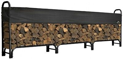 ShelterLogic 12 ft Firewood Rack with Cover Easy Assembly Durability and