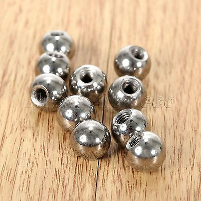 Steel M4 Threaded Ball Rod Ends for 3D Printer Magnetic Joint Delta Kossel 10Pcs