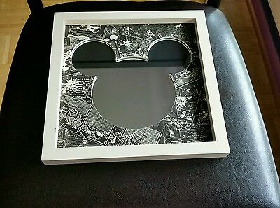 Black and White Framed Mickey Mouse Wall Hanging  Mirror