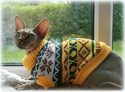 WINTER cat jumper for a Sphynx  cat, clothes, jumper, sweater