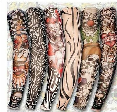 Realistic Fake Slip On Tattoo Arm Cover Sleeve JOKE, XMAS, NEW YEAR, STAG PARTY