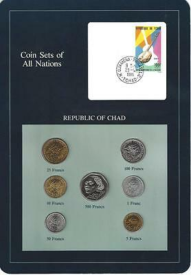 Coin Sets of All Nations, Chad, Blue Card