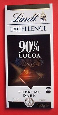 Lindt Excellence Supreme Dark Chocolate 90% Cocoa ( 100 g x 3  / 3.5 oz  each )