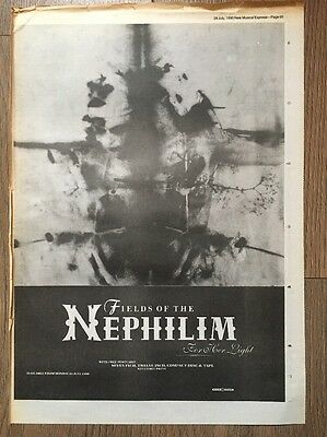 """Fields Of The Nephilim  Original Advert 16 X 12"""" Poster Size 28 July 1990"""