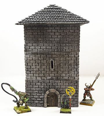 WWS Fantasy Historical Stone Tower Keep Building - Wargames Scenery Terrain R47